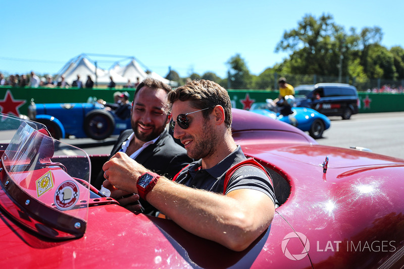 Romain Grosjean, Haas F1 on the drivers parade