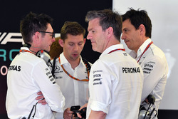 Andy Shovlin, ingegnere Mercedes AMG F1 W08, Direttore Tecnico James Allison, Mercedes AMG F1 W08 e
