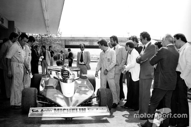 La primera prueba del Ferrari 312 T3