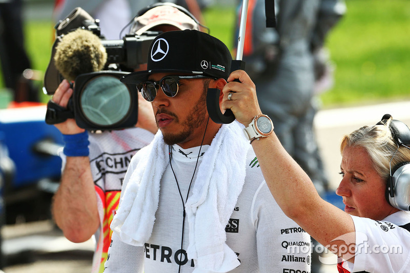 Lewis Hamilton, Mercedes AMG F1 Team on the grid