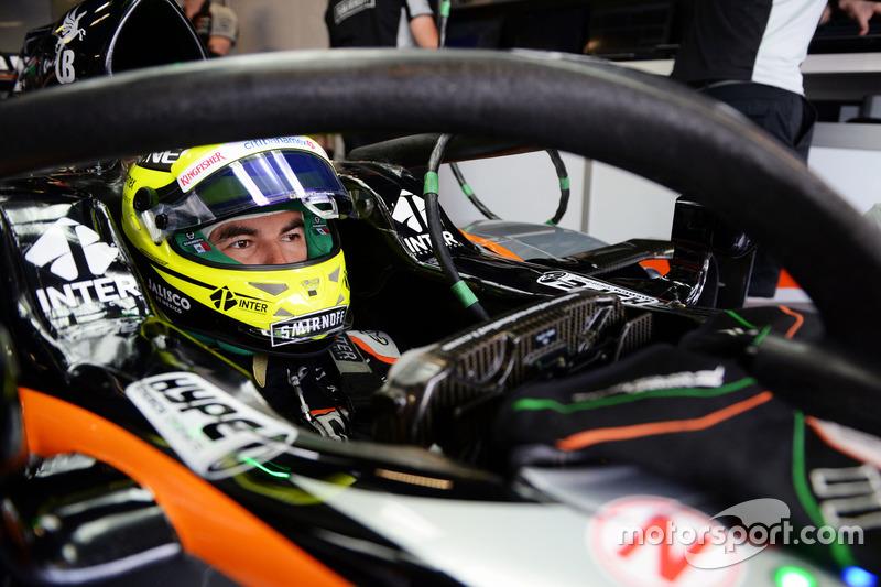 Sergio Perez, Sahara Force India F1 VJM09 Halo kokpit ile