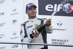 Podium: third place Robert Kubica, Team Duqueine celebrates his podium
