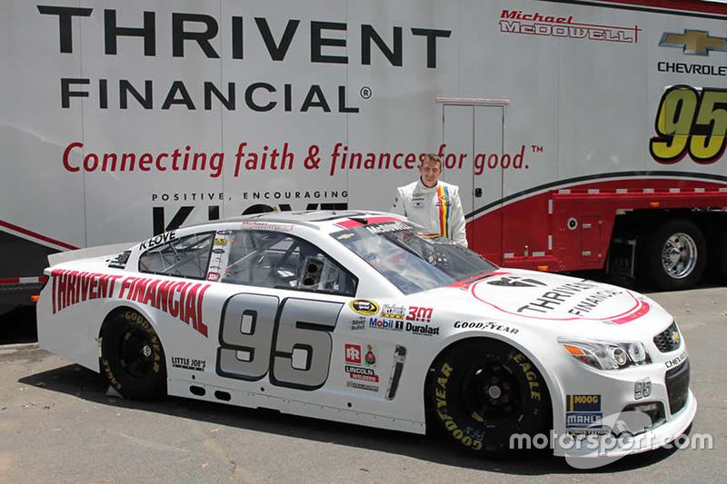 Throwback-Design von Michael McDowell, Circle Sport Leavine Family Racing, Chevrolet