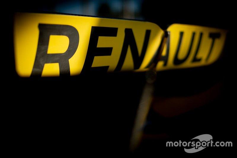 Renault F1 Team R.S.19, detalle del logotipo de Renault