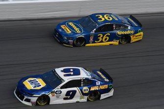 Chase Elliott, Hendrick Motorsports, Chevrolet Camaro NAPA AUTO PARTS, Matt Tifft, Front Row Motorsports, Ford Mustang