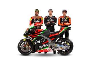 Алеш Эспаргаро, Брэдли Смит, Андреа Янноне, Aprilia Racing Team Gresini