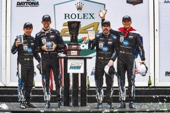 #10 Wayne Taylor Racing Cadillac DPi: Renger Van Der Zande, Jordan Taylor, Fernando Alonso, Kamui Kobayashi, podium