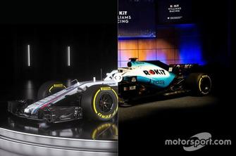 Williams FW41 vs- FW42 design comparison