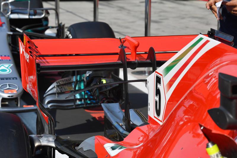Ferrari SF71H arka kanat detay