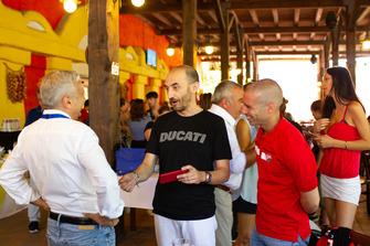Claudio Domenicali, AD Ducati, e Marco Melandri