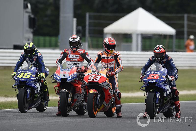 Valentino Rossi, Jorge Lorenzo, Marc Márquez, Maverick Viñales