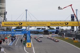 Startaufstellung der Formel-3-EM 2018 auf dem Nürburgring