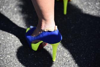 Girls foot