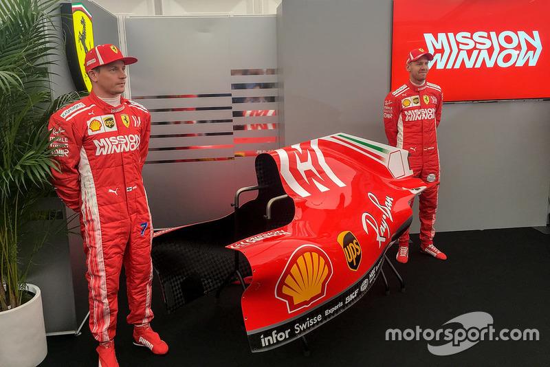 Sebastian Vettel, Kimi Raikkonen al lancio di Mission Winnow