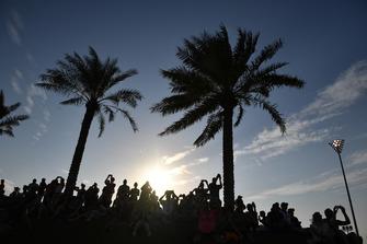 Fans on Abu Dhabi Hill