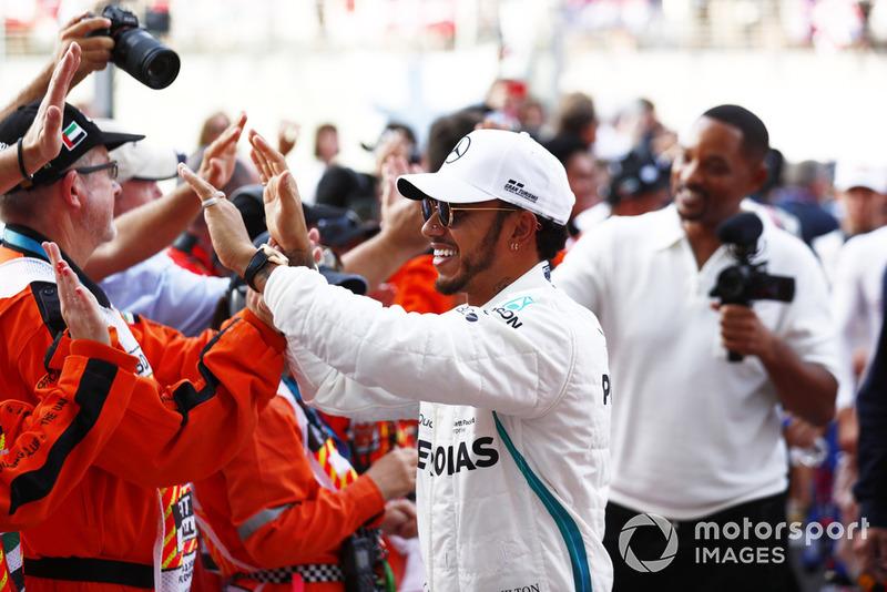 Lewis Hamilton, Mercedes AMG F1 con Will Smith