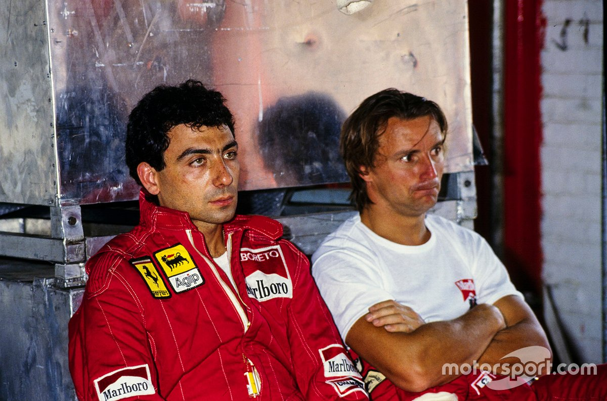 Aside from a brilliant drive from the back in Dallas, Arnoux was overshadowed by Alboreto in '84, but never let it affect their relationship.