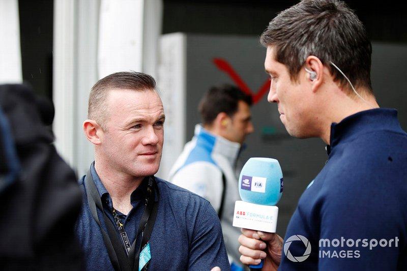 Footballer Wayne Rooney speaks to presenter Vernon Kaye