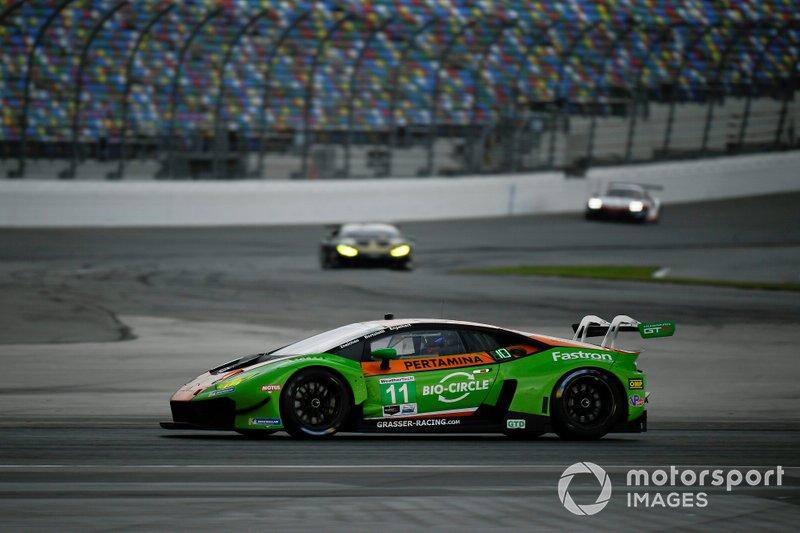 #11 GRT Grasser Racing Team Lamborghini Huracan GT3, GTD: Mirko Bortolotti, Christian Engelhart, Kang Ling