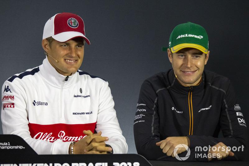 Marcus Ericsson, Sauber et Stoffel Vandoorne, McLaren en conférence de presse