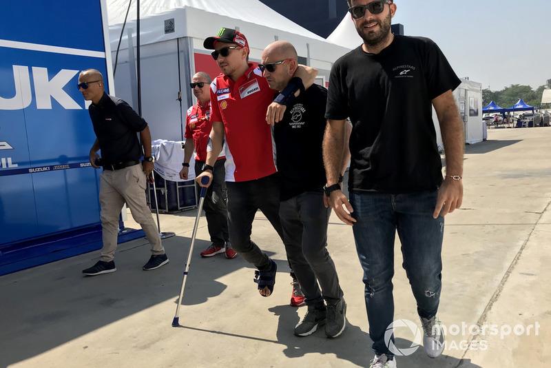 Хорхе Лоренсо, Ducati Team, у Таїланді з травмою ноги