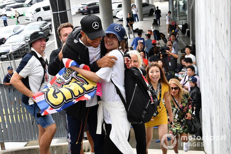 Lewis Hamilton, Mercedes AMG F1 and fan