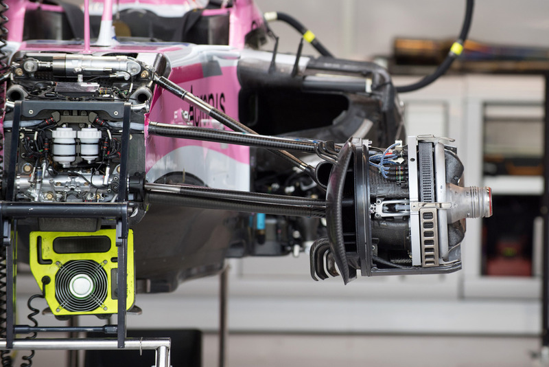 Racing Point Force India VJM11 front suspension detail