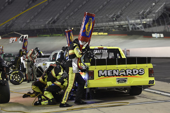 Matt Crafton, ThorSport Racing, Ford F-150 Great Lakes Wood Floors/Menards, makes a pit stop.