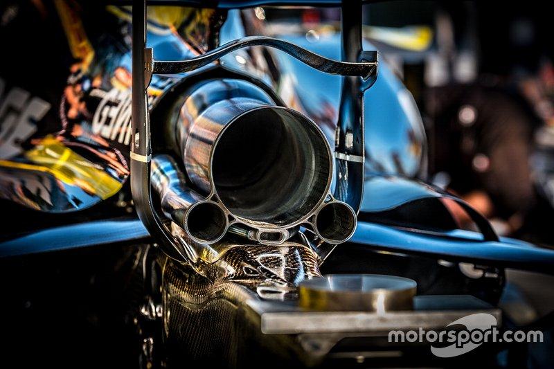 Renault F1 Team R.S.19, detalle de escape