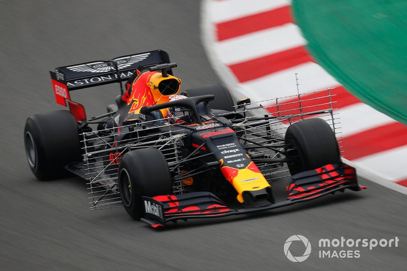 Max Verstappen, Red Bull Racing RB15 con sensori aerodinamici