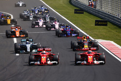 Sebastian Vettel, Ferrari SF70H, Kimi Raikkonen, Ferrari SF70H, Max Verstappen, Red Bull Racing RB13, Valtteri Bottas, Mercedes AMG F1 W08, Carlos Sainz Jr., Scuderia Toro Rosso STR12 and Fernando Alonso, McLaren MCL32