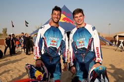 Max Verstappen, Red Bull Racing and Daniel Ricciardo, Red Bull Racing pose for a photograph
