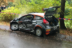 La Ford Fiesta R5 di Alexey Lukyanuk dopo l'incidente nella PS6