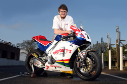 Conor Cummins poses with the Padgett's Honda Racing RC213V