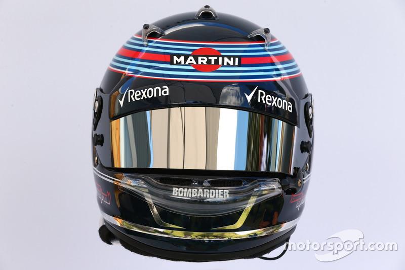 Helm von Lance Stroll, Williams