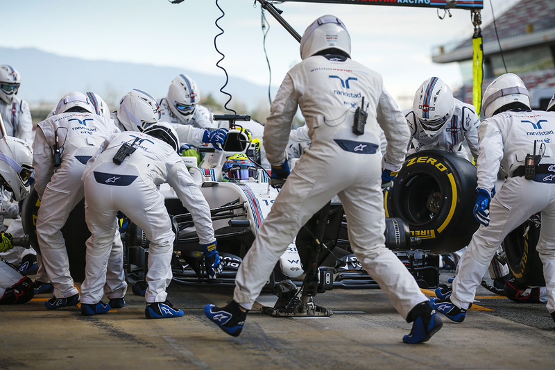 Boxenstopptraining: Felipe Massa, Williams FW40