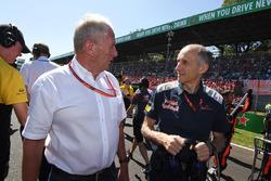 Dr Helmut Marko, consultant de Red Bull Motorsport et Franz Tost, directeur de la Scuderia Toro Rosso
