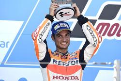Podium: second place Dani Pedrosa, Repsol Honda Team