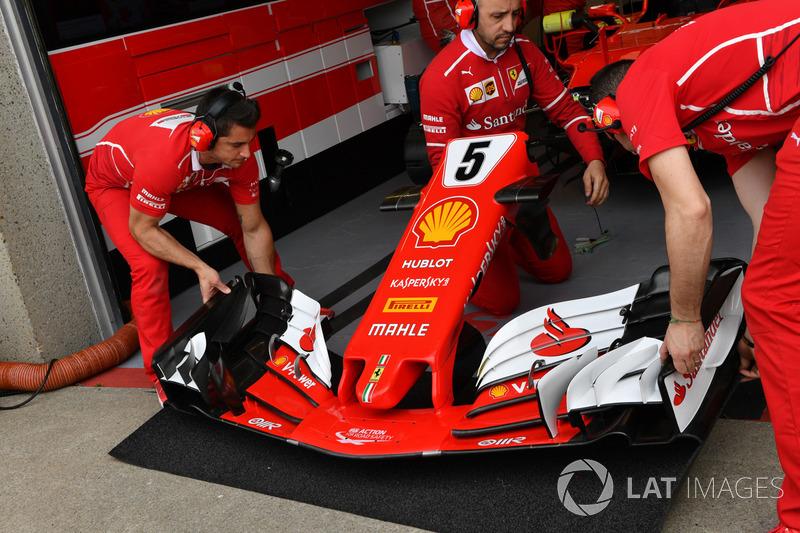Ferrari SF70H: Frontpartie