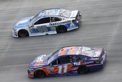 Denny Hamlin, Joe Gibbs Racing, Toyota; Dale Earnhardt Jr., Hendrick Motorsports, Chevrolet