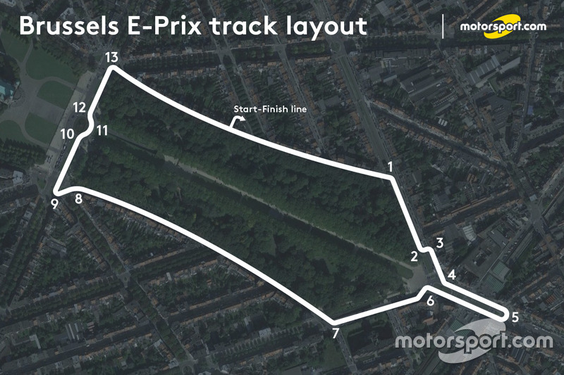 Brussels ePrix layout