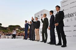 Esteban Ocon, Force India F1, Marc Gene, Ferrari, Daniil Kvyat, Scuderia Toro Rosso, Stoffel Vandoorne, McLaren, Marcus Ericsson, Sauber, Pascal Wehrlein, Sauber and Charles Leclerc, Prema Racing