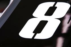 Startnummer op de wagen van Romain Grosjean, Haas F1 Team VF-17