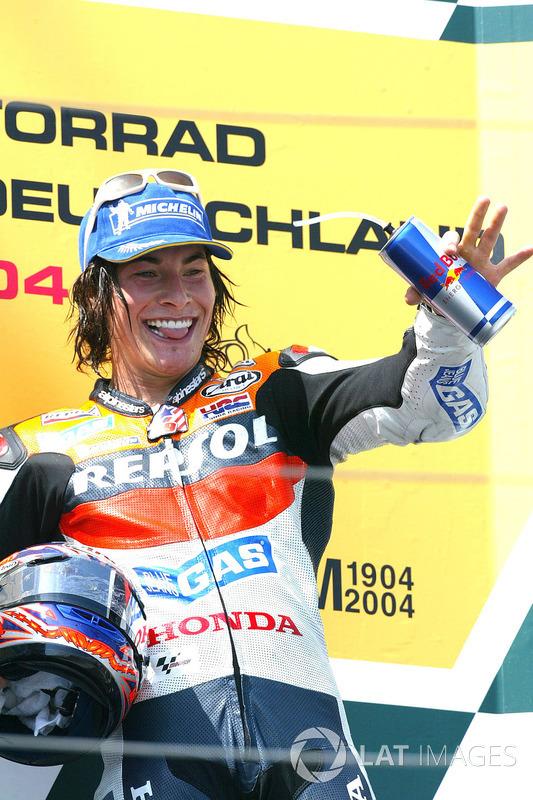Podio tercera posición, Nicky Hayden, Repsol Honda Team