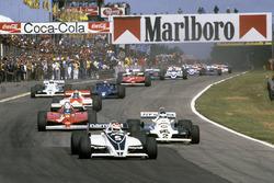 Arrancada: Nelson Piquet, Brabham BT49C líder
