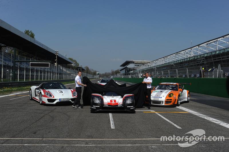 Andreas Seidl, director del equipol Porsche Team, Fritz Enzinger, Vice Presidente LMP1 Porsche Team