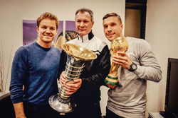 Pressekonferenz mit Nico Rosberg und Lukas Podolski