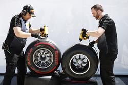 Pirelli engineers at work