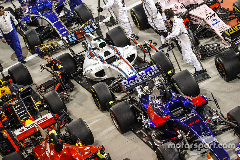 Cars in Parc Ferme after the race