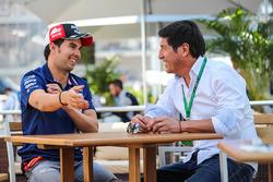 Sergio Perez, Sahara Force India with Ivan Zamorano, Football Player